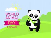 October Animal Day Concept Background. Flat Illustration Of October Animal Day Concept Background Fo poster