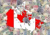 Постер, плакат: Канада текст с канадских долларов