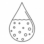 Dirty Water Drop Icon. Outline Dirty Water Drop Icon For Web Design Isolated On White Background poster
