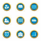 Mathematician Icons Set. Flat Set Of 9 Mathematician Icons For Web Isolated On White Background poster