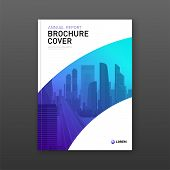 Business Brochure Cover Design Layout. Good For Real Estate Catalog, Annual Report, Magazine Cover,  poster