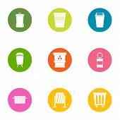 Scavenger Icons Set. Flat Set Of 9 Scavenger Icons For Web Isolated On White Background poster