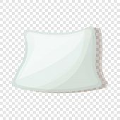 Soft Pillow Icon. Cartoon Of Soft Pillow Icon For Web Design poster