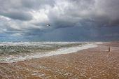 On The Amazing Lakolk Beach After Heavy Rain. This Beach Is  Beach After Heavy Rain, Jutland, Denmar poster