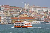 Lisbon and the river Tagus in Portugal