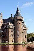 Towers of late medieval castle 'De Haar' near Utrecht in the Netherlands