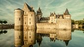 Castle Or Chateau De Sully-sur-loire In Sunset Light, France. This Old Castle Is A Famous Landmark O poster