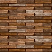 Wood Brown Floor Tiles Pattern. Seamless Texture Wooden Parquet Board. Vector Illustration For User  poster