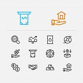 Capital Icons Set. Agriculture Investment And Capital Icons With Exchange, Investment Services And I poster