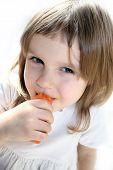 Girl Bites Carrot