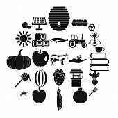 Private Farm Icons Set. Simple Set Of 25 Private Farm Icons For Web Isolated On White Background poster