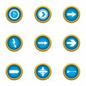 Insertion Cursor Icons Set. Flat Set Of 9 Insertion Cursor Icons For Web Isolated On White Backgroun poster