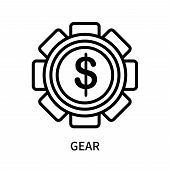 Gear Icon Isolated On White Background. Gear Icon Simple Sign. Gear Icon Trendy And Modern Symbol Fo poster