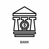 Bank Icon Isolated On White Background. Bank Icon Simple Sign. Bank Icon Trendy And Modern Symbol Fo poster