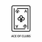 Ace Of Clubs Icon Isolated On White Background. Ace Of Clubs Icon Simple Sign. Ace Of Clubs Icon Tre poster