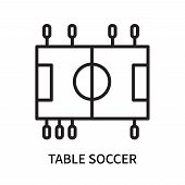 Table Soccer Icon Isolated On White Background. Table Soccer Icon Simple Sign. Table Soccer Icon Tre poster