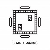 Board Gaming Icon Isolated On White Background. Board Gaming Icon Simple Sign. Board Gaming Icon Tre poster