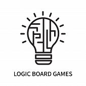 Logic Board Games Icon Isolated On White Background. Logic Board Games Icon Simple Sign. Logic Board poster