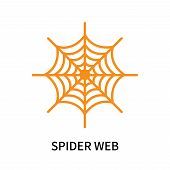 Spider Web Icon Isolated On White Background. Spider Web Icon Simple Sign. Spider Web Icon Trendy An poster