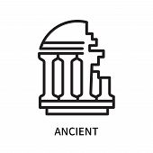 Ancient Icon Isolated On White Background. Ancient Icon Simple Sign. Ancient Icon Trendy And Modern  poster