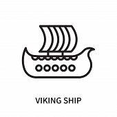 Viking Ship Icon Isolated On White Background. Viking Ship Icon Simple Sign. Viking Ship Icon Trendy poster