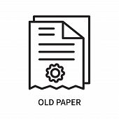 Old Paper Icon Isolated On White Background. Old Paper Icon Simple Sign. Old Paper Icon Trendy And M poster