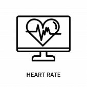 Heart Rate Icon Isolated On White Background. Heart Rate Icon Simple Sign. Heart Rate Icon Trendy An poster