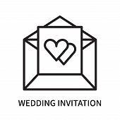 Wedding Invitation Icon Isolated On White Background. Wedding Invitation Icon Simple Sign. Wedding I poster