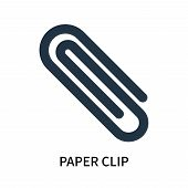 Paper Clip Icon Isolated On White Background. Paper Clip Icon Simple Sign. Paper Clip Icon Trendy An poster