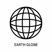 Earth Globe Icon Isolated On White Background. Earth Globe Icon Simple Sign. Earth Globe Icon Trendy poster