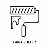 Paint Roller Icon Isolated On White Background. Paint Roller Icon Simple Sign. Paint Roller Icon Tre poster