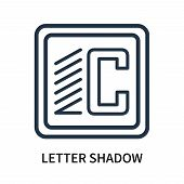 Letter Shadow Icon Isolated On White Background. Letter Shadow Icon Simple Sign. Letter Shadow Icon  poster