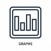 Graphs Icon Isolated On White Background. Graphs Icon Simple Sign. Graphs Icon Trendy And Modern Sym poster