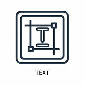 Text Icon Isolated On White Background. Text Icon Simple Sign. Text Icon Trendy And Modern Symbol Fo poster
