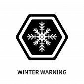 Winter Warning Icon Isolated On White Background. Winter Warning Icon Simple Sign. Winter Warning Ic poster