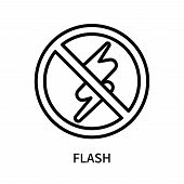 Flash Icon Isolated On White Background. Flash Icon Simple Sign. Flash Icon Trendy And Modern Symbol poster
