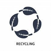 Recycling Icon Isolated On White Background. Recycling Icon Simple Sign. Recycling Icon Trendy And M poster