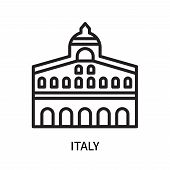 Italy Icon Isolated On White Background. Italy Icon Simple Sign. Italy Icon Trendy And Modern Symbol poster