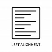 Left Alignment Icon Isolated On White Background. Left Alignment Icon Simple Sign. Left Alignment Ic poster