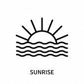 Sunrise Icon Isolated On White Background. Sunrise Icon Simple Sign. Sunrise Icon Trendy And Modern  poster
