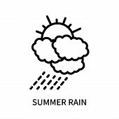 Summer Rain Icon Isolated On White Background. Summer Rain Icon Simple Sign. Summer Rain Icon Trendy poster