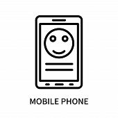 Mobile Phone Icon Isolated On White Background. Mobile Phone Icon Simple Sign. Mobile Phone Icon Tre poster