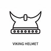 Viking Helmet Icon Isolated On White Background. Viking Helmet Icon Simple Sign. Viking Helmet Icon  poster