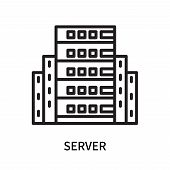 Server Icon Isolated On White Background. Server Icon Simple Sign. Server Icon Trendy And Modern Sym poster