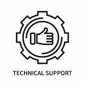 Technical Support Icon Isolated On White Background. Technical Support Icon Simple Sign. Technical S poster