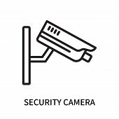 Security Camera Icon Isolated On White Background. Security Camera Icon Simple Sign. Security Camera poster