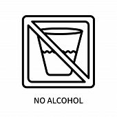 No Alcohol Icon Isolated On White Background. No Alcohol Icon Simple Sign. No Alcohol Icon Trendy An poster