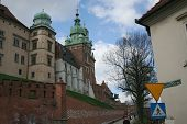 Buildings Wawel Castle. Krakow. Poland. Medieval History Memorial poster