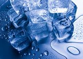 picture of ice-cubes  - Ice cubes - JPG