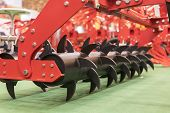 Agricultural Machinery For Soil Cultivation. New Modern Models Of Agricultural Machinery. poster